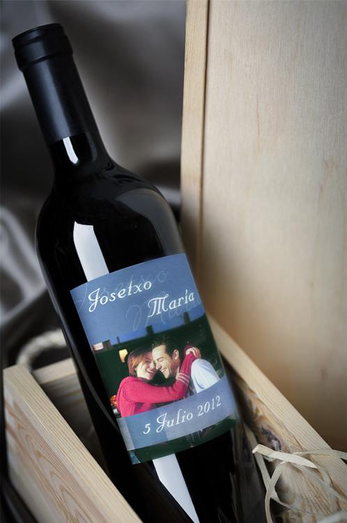 Foto de etiqueta para botella de vino