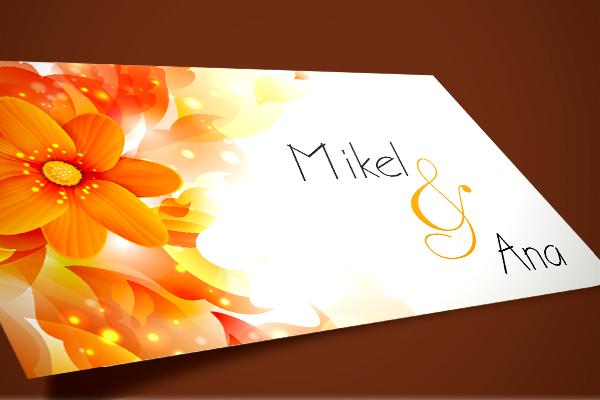 Foto de tarjeta floral