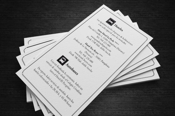 Fotos de tarjetas de horarios de boda