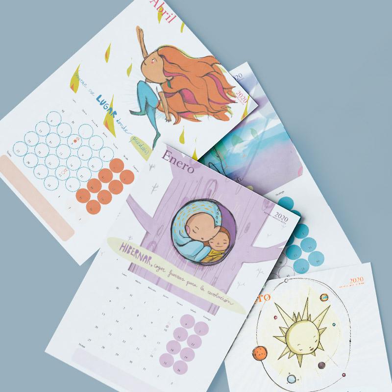 Foto de láminas de calendario impresas