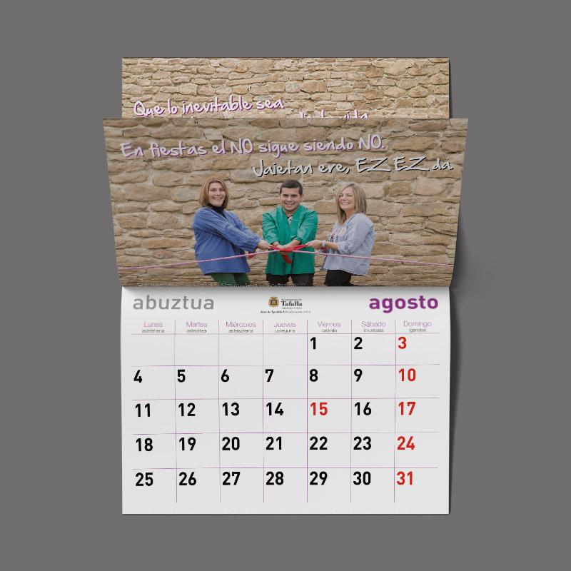Foto de un calendario de igualdad
