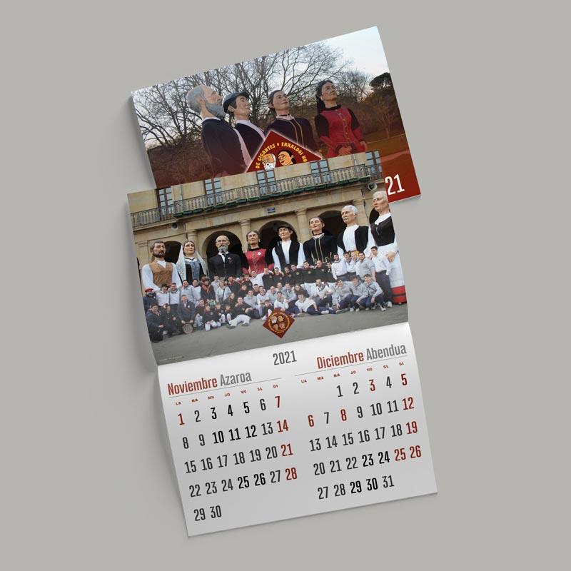 Foto de calendario de pared Comparsa Asier Marko